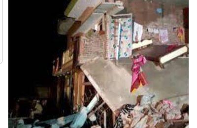 दुखद..उत्तर प्रदेश के गोंडा जिले में सिलेंडर फटने से दो मकान ढ़हे..3 बच्चों सहित 7 की मौत..मुख्यमंत्री ने दिया जांच का आदेश