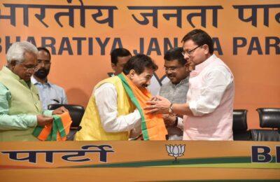 बड़ी खबर.. धामी का दम,कांग्रेस MLA राजकुमार ने कर ली BJP में घरवापसी, देखते रह गए हरदा-प्रीतम CM धामी ले उड़े पार्टी विधायक, नैरेटिव बन रहा जब विधायक नहीं संभाल पा रहे सरकार कैसे बनाएंगे!