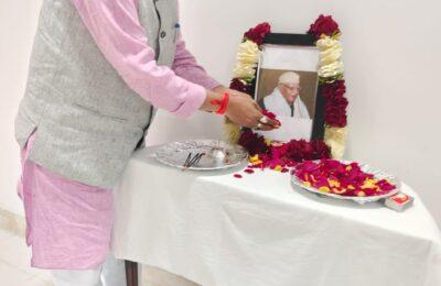 उत्तराखंड के लोकप्रिय जन नेता पंडित नारायण दत्त तिवारी को विधायक शुक्ला ने दी श्रद्धांजलि, कहा मुख्यमंत्री ने लिया बहुत अच्छा निर्णय