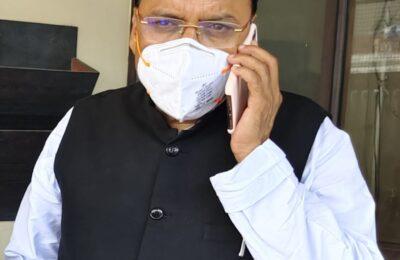 विधायक शुक्ला के परिवार में शोक लेकिन बरसात से प्रभावित परिवारों की मदद् के लिए प्रयत्नशील हैं विधायक शुक्ला